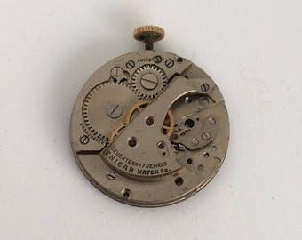 Steampunk vintage silver watch movement