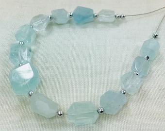 1 Strand Aquamarine Beaded Necklace @ZC07