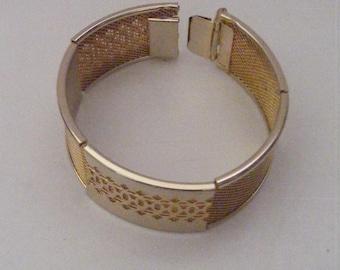 Vintage Gold Tone Rectangle Links Bracelet