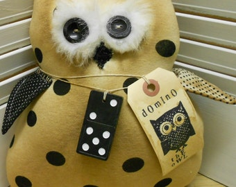 Domino The Owl Pattern Primitive Owl E Pattern INSTANT DOWNLOAD Very Easy to Make Hafair