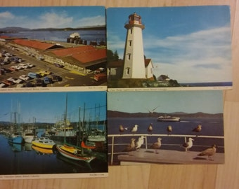 Vancouver Vintage (4) Postcards - 1960's British Columbia Canada Canadian Cards