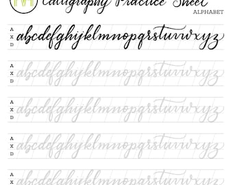 Calligraphy Part 3 Majuscule Copperplate Alphabet Uppercase