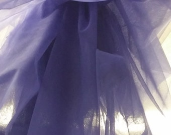 "Blue/lilac tulle fabric, lingerie tulle fabric, evening dress tulle, flower dress tulle, - 63"" (160 cm) wide - sold per meter T13142"