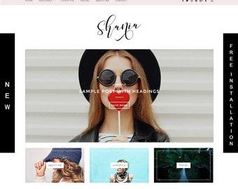 Wordpress Blog Theme & Template / Feminine Wordpress / Premade Theme / Fashion and Photography Blog Responsive Theme / Food Blog