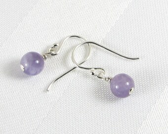 Lightweight Lavender Amethyst and Sterling Silver Earrings