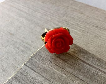 rose napkin sia red set rings of