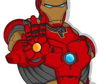 Iron Man Original Print