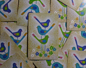 Vintage Three Little Birds / Playing Cards