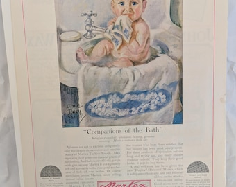 Maud Tousey Fangel Vintage Print Ad, Antique Advertising