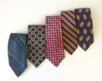 instant collection vintage neckties...Italian silk