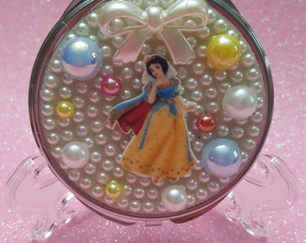 Pearls bows and snow princess Compact Purse Mirror