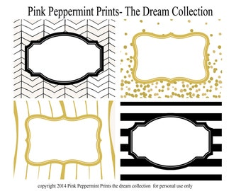 As Seen on SHUTTERFLY--INSTANT DOWNLOAD The Dreamer Printable Party Collection Printable Party Labels