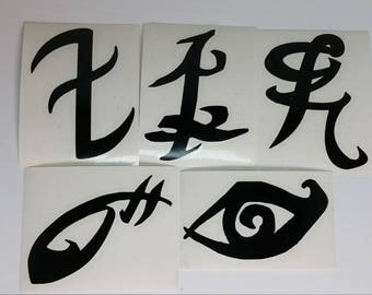 The Mortal Instruments/Shadowhunters Rune Vinyl Decals - Available as singles or packs!