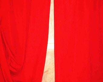 100% COTTON THICK RED UPHOLSTERY FABRIC CURTAINS L 1 M 50 X H 2M 90