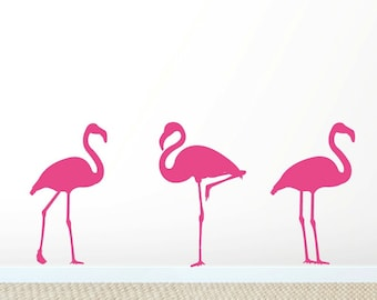 Flamingo Wal Decals Art Sickers Mural - FREE SHIPPING!