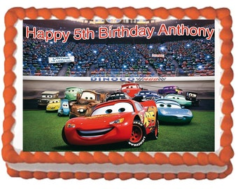 Cars Cake Topper Cars Birthday Party Disney Cars Topper