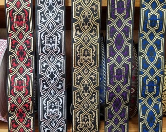 Medieval Lacy Woven Fabric Trim 1 1/2 inch Sold by the Yard or 5 yards
