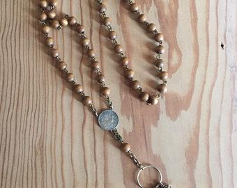 Boho Vintage, Vintage Assemblage Necklace, Upcycled, Repurposed, Steampunk, Boho