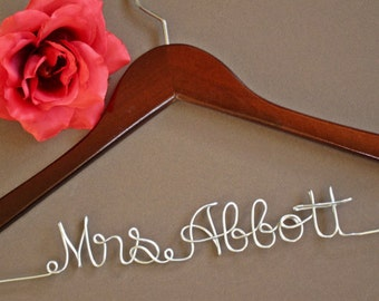 SALE Personalized Bridal Hanger / Wedding Hanger / Custom Hanger / Bridesmaid Gift / Bridal Shower Gift / just because gift
