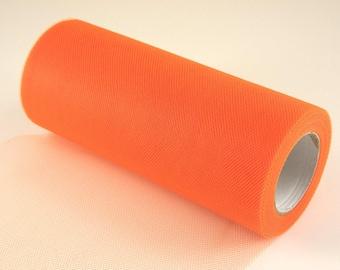 Orange Shrimp Tulle Roll 6in x 75ft  (25 yards)