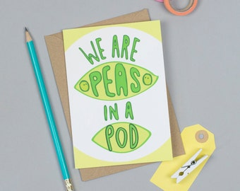 Peas in a Pod Greeting Card
