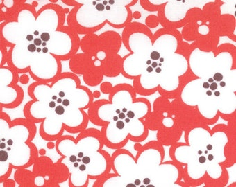 Moda - Just Wing It Flower Power 32444-13 in Tomato by Momo by the Yard