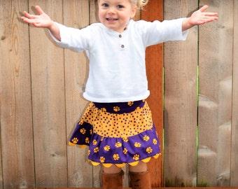 University of Washington Skirt, Girls Skirt, Toddler Skirt, Husky Skirt, Twirl Skirt, Purple and Gold Skirt, PAC 12, Tiered Skirt, UW Skirt