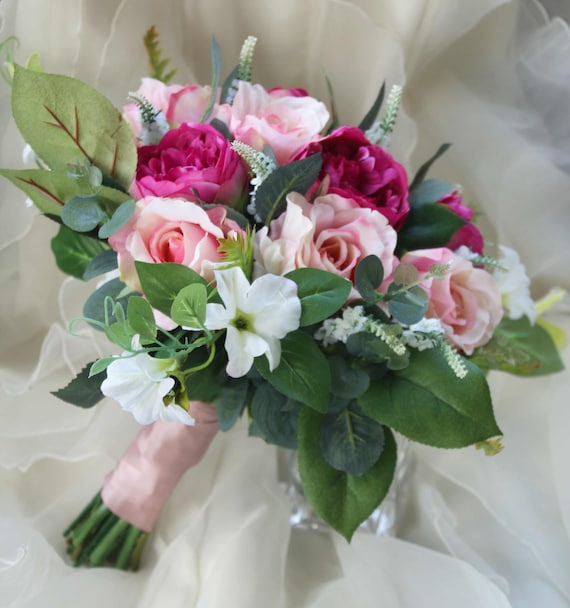 Boho Bouquet Silk Flower Bouquet Wedding Bouquet Bridal