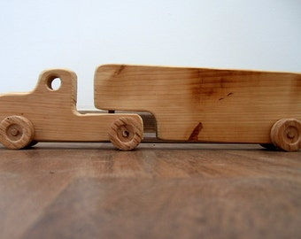 Tommy the toddler's wood truck - a waldorf wooden toy, kids pretend play