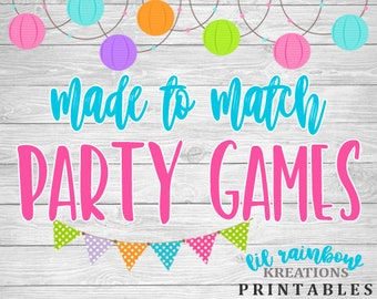 Made To Match Party Games For Any Theme