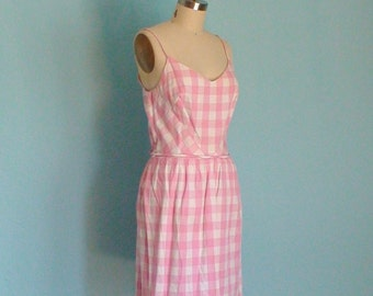 Pink and White EYE LIT Gingham Dress