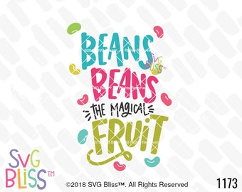 Easter SVG, Jelly Beans, Magical Fruit, Fart Humor, Cute, Kids, Baby, Handlettered, Cricut & Silhouette Cut File, DXF, SVG Bliss Original