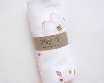 Baby Swaddle, Crib Sheet, Baby Blanket | Floral Swaddle, Blush, Soft Pink, Floral Blanket, Floral Crib Sheet