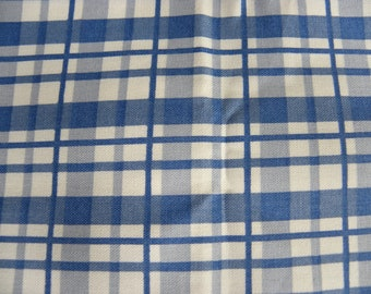 Blue Plaid Decor Fabric - FQ