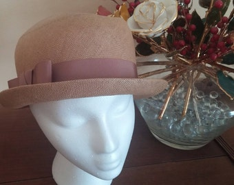 Vintage Straw Bowler Hat by Christian Dior-New York