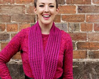Tegwyn Cowl - easy lace cowl pdf knitting pattern
