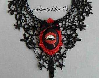 necklace vampire black lace
