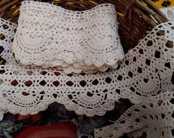 3 yards + Victorian Home Decor Crochet Lace Long White Cotton French Shelf Edging Home Decor Lace #sophieladydeparis
