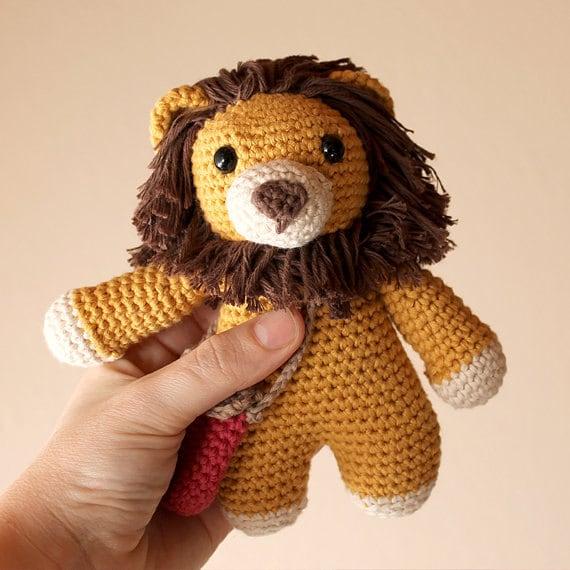 Lion - Animalius. Crochet Doll, Amigurumi Toy, Crocheting, Made to Order, Animal Crochet, Cute Children Gift, Nursery Doll, DIY, Art Crafts