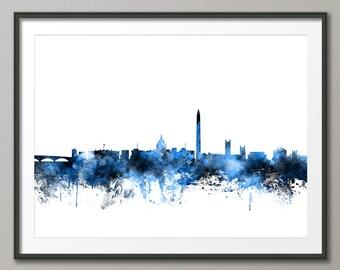 Washington DC Skyline, Cityscape Art Print (1123)