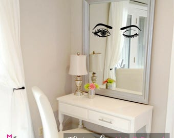 WALL DECAL:  The Wink - Makeup Vanity Wall Decal Sticker