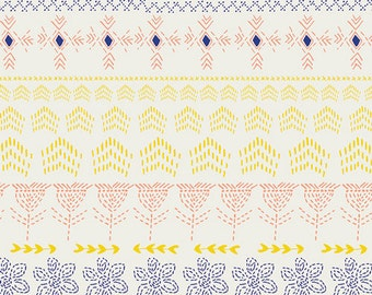 Tule Embroidered by Moon, Leah Duncan, Art Gallery Fabrics, 100% Cotton Fabric, TL-40026
