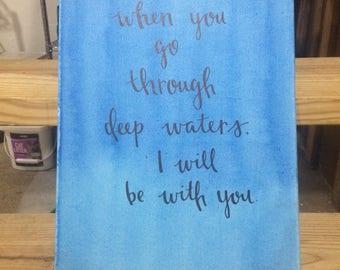 Isaiah 43:2 Canvas Art
