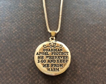 Guardian Angel - Guardian Angel Necklace - Guardian Angel Jewelry - Guardian Angel Gifts - Angel Necklace - Angel Jewelry - Angel Gifts