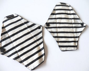 Set of 2  Cloth Panty Liner Set-Stripes