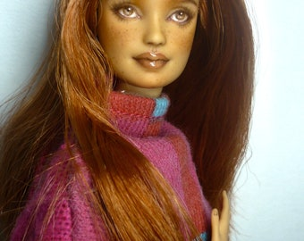 RESERVED!!!***1/6 OOAK Barbie made to move doll