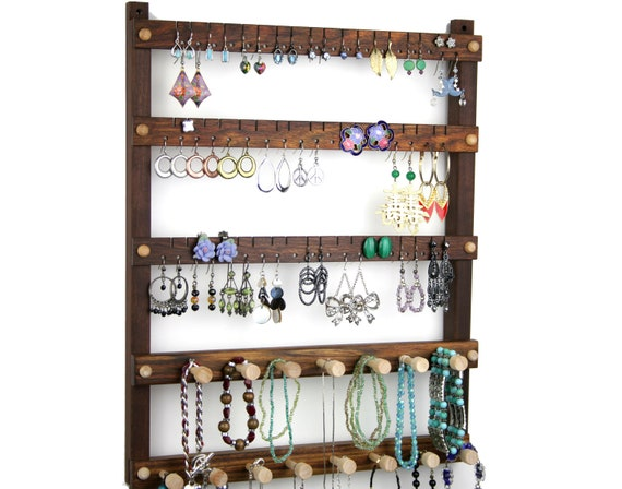 Jewelry Holder Earrings Holder Hanging Wood Caribbean