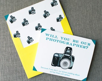 Will You Be Our Photographer Card | Timeless and Charming Way to Ask Your Photographer to Photograph Your Wedding | Classy Way to Ask Photog