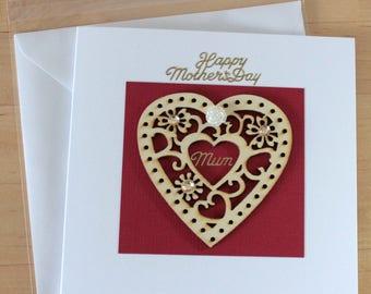 Mothers day card, gift, mothers day card, gift, mother's day cards , Happy mothers day card, Card for mum, Greeting cards handmade, Handmade