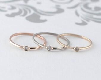 14K Gold Diamond Knuckle Ring